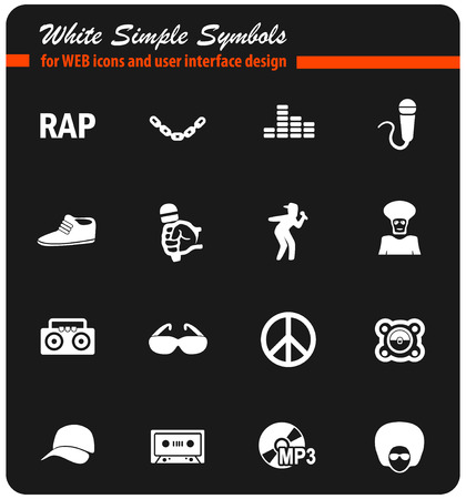 rap web icons for user interface design