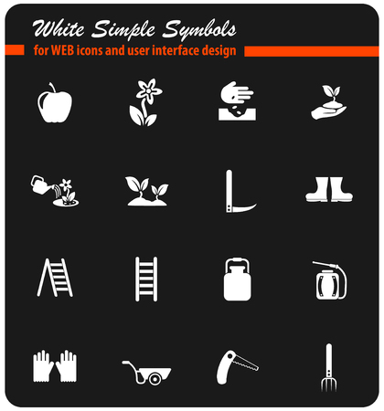 gardening vector icons for web and user interface design Vektorgrafik
