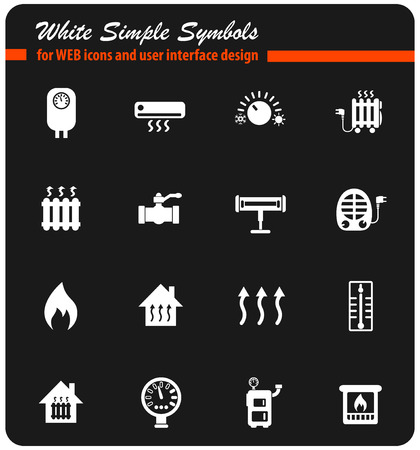 heating web icons for user interface design Illustration