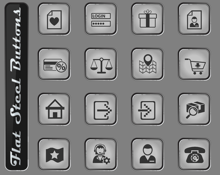 e-commerce interface web icons for user interface design