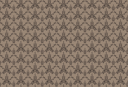 illustration de fond floral sans couture dans un style vintage Vecteurs