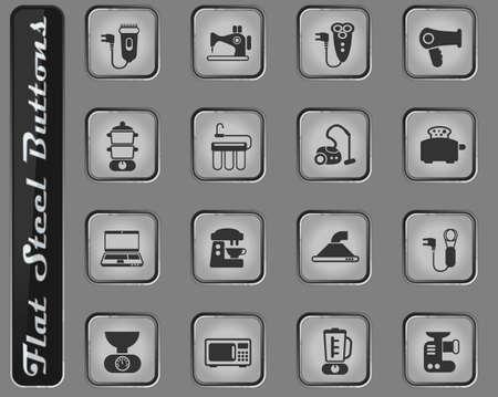 home appliances vector icons for web and user interface design Ilustração