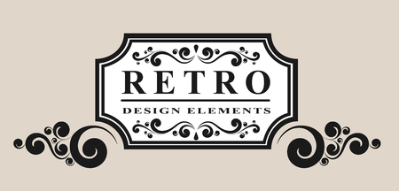 retro label with vintage elements vector illustration