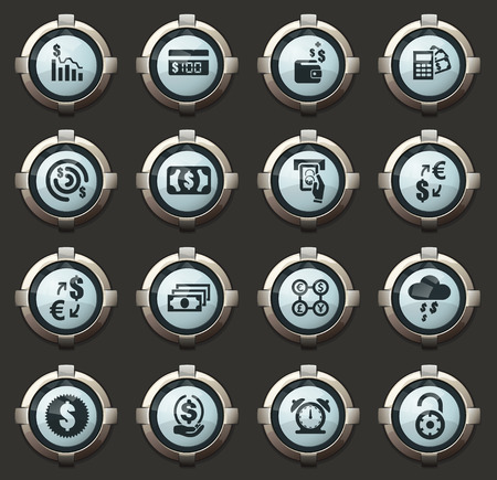 E-commers vector stylish round buttons for mobile applications and web