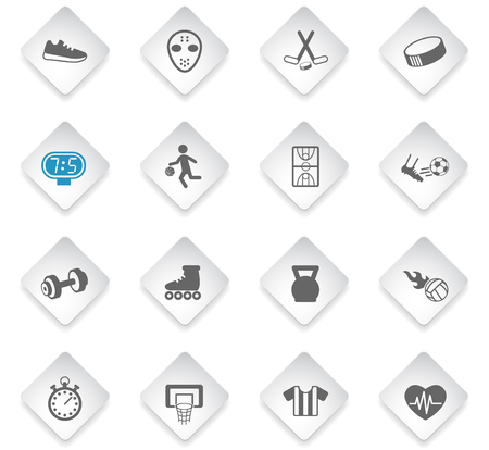 sport flat rhombus web icons for user interface design