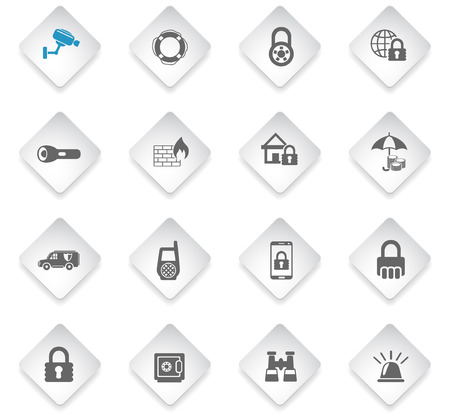 security flat rhombus web icons for user interface design