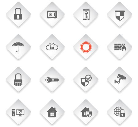 security flat rhombus web icons for user interface design Standard-Bild - 126746788