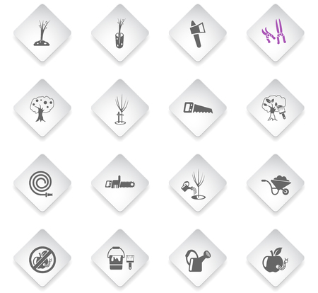 gardening flat rhombus web icons for user interface design