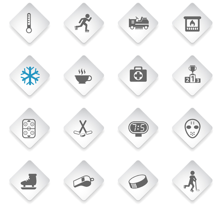 ice rink flat rhombus web icons for user interface design