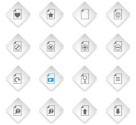 document flat rhombus web icons for user interface design