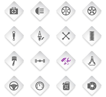 car shop flat rhombus web icons for user interface design Stockfoto - 126701758