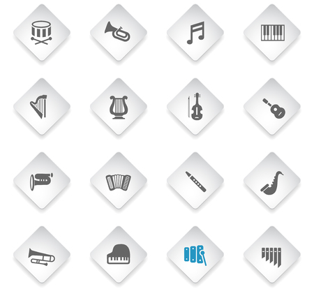 classic instruments flat rhombus web icons for user interface design