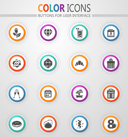 8 March vector icons for user interface design Ilustração