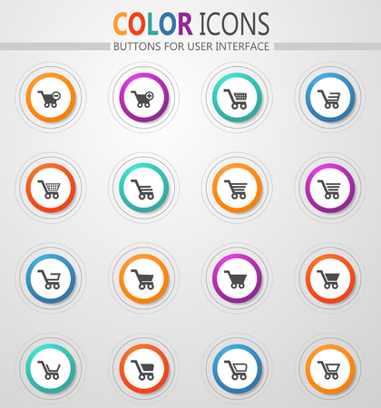 Shopping Bascket icon set for web sites and user interface