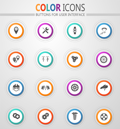 Bicycle vector web icons for user interface Illustration