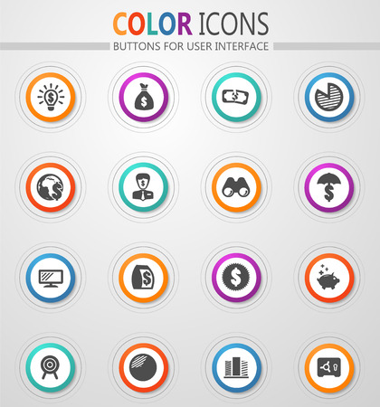 Business vector icons for user interface design