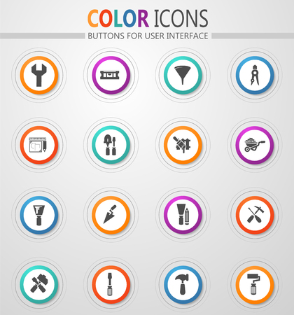 Work tools icon set for web sites and user interface
