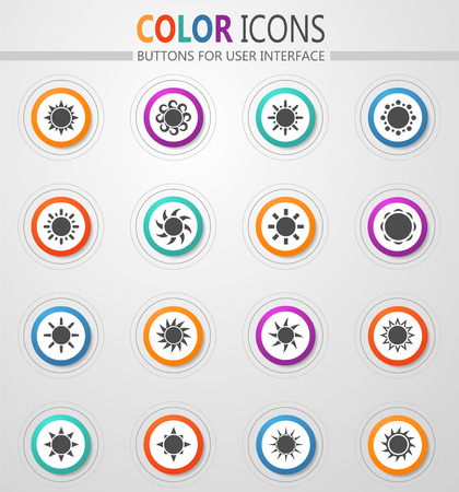 Sun icon set for web sites and user interface