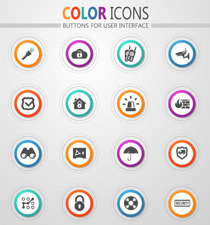 Security and protection vector icons for user interface design