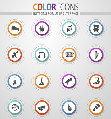 Childrens toys icon set for web sites and user interface