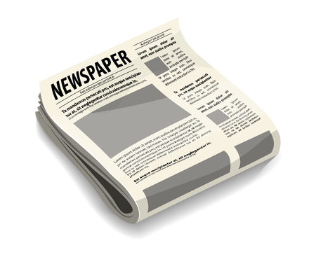 Newspapers pack stylized realistic vector icon, Press