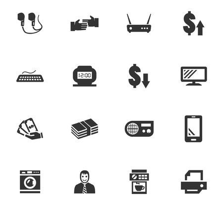 Pawn shop vector icons for user interface design Vettoriali
