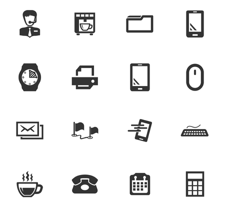Office vector icons for user interface design
