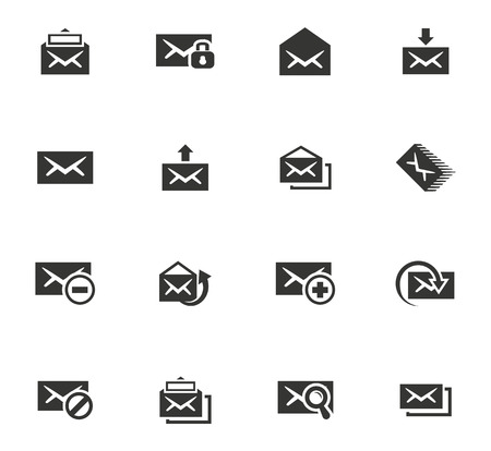 Mail vector icons for user interface design