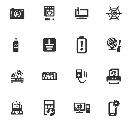 Electron icons set for web sites and user interface Illustration
