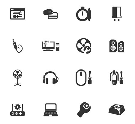 Electron icons set for web sites and user interface Иллюстрация