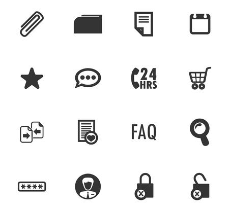 Jeu d'icônes d'interface de commerce électronique pour les sites Web et l'interface utilisateur