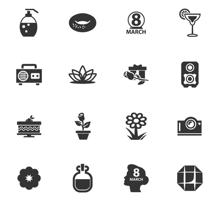 Womens Day vector icons for user interface design Illustration