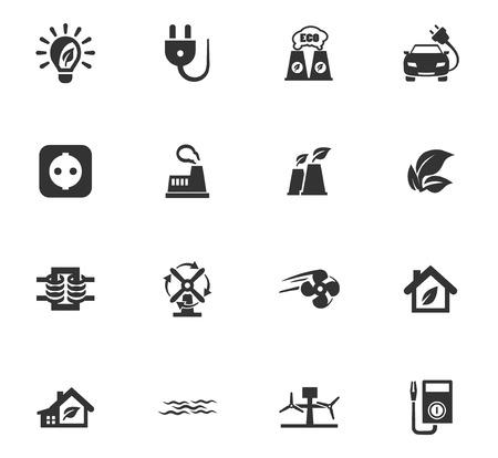 Icônes d'énergie alternative définies pour les sites Web et l'interface utilisateur