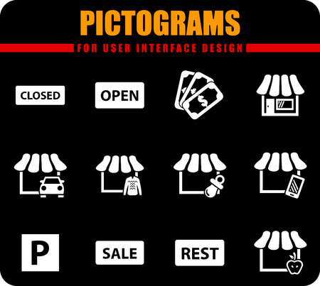 Shop professional vector pictograms for user interface design