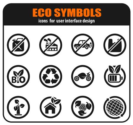 Ecology icon set for user interface design Фото со стока - 124884686