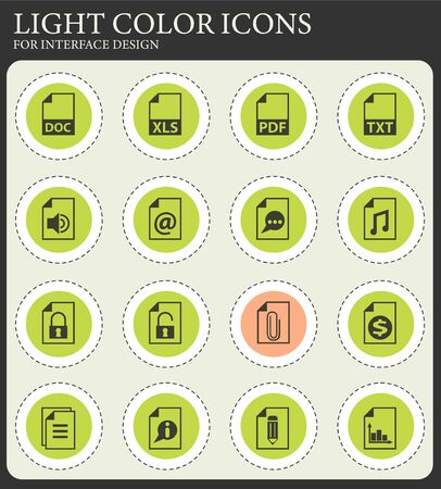 document vector icons for web and user interface design Çizim