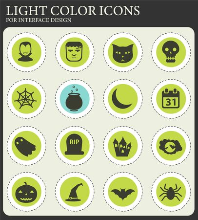 Halloween simply vector icons for web and user interface design