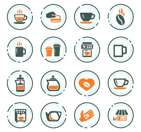Coffee icon set for web sites and user interface Illustration