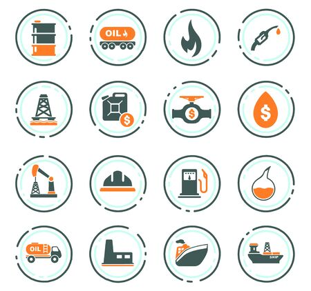 Extraction of oil icons set for web sites and user interface
