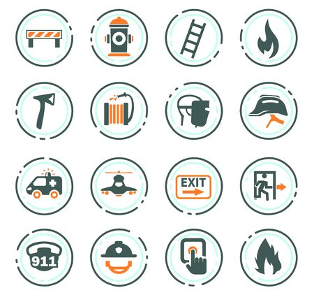 Emergency icon set for web sites and user interface