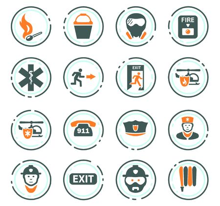 Emergency icon set for websites and user interface