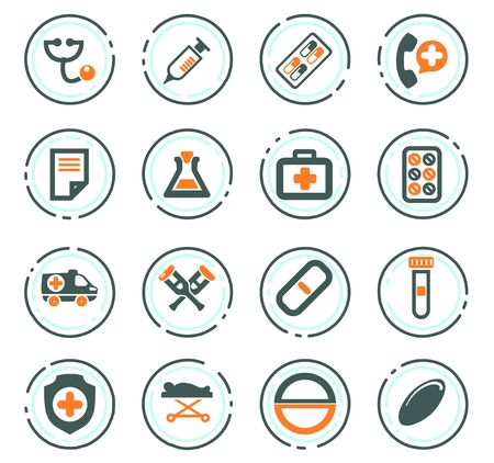 Medical icon set for web sites and user interface