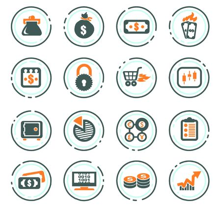 E-commers vector icons for user interface design Stock Illustratie