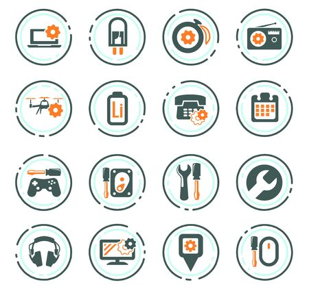Electron icons set for web sites and user interface Stock Illustratie