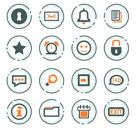 Forum interface web icons for user interface design
