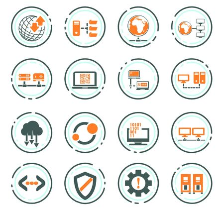 Hosting provider vector icons for user interface design Ilustrace