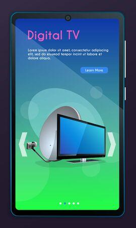 Satelite television concept for website
