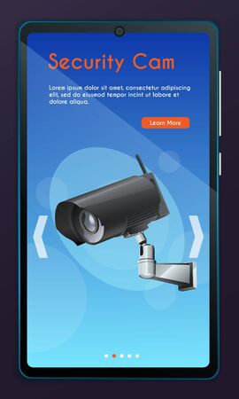 Security monitoring concept for website Illustration