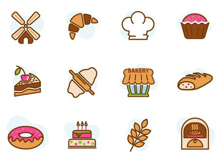 Bakery colored icons