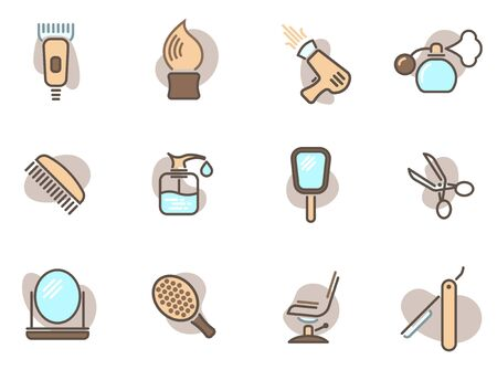 Barber colored icons